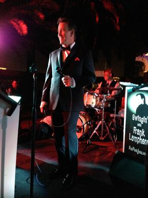 Lamphere sings some Dean Martin songs during a recent performance at the Palms Casino Resort in Las Vegas