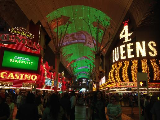 """On Fremont Street you'll see old Vegas"" Frank Lamphere sings Las Vegas"